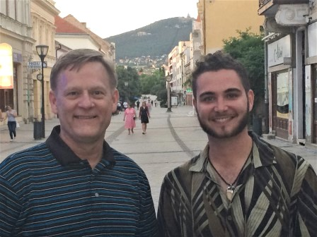 Dr. Bruce Ahrendsen and graduate student Matthew Coale in Slovakia.